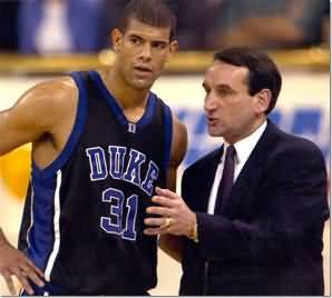 Coach K and Shane Battier