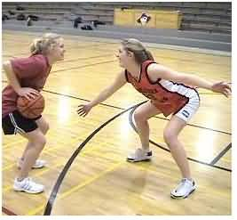 Man-to-man defense, defensive stance