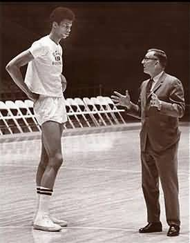 Coach Wooden and Kareem Abdul Jabbar