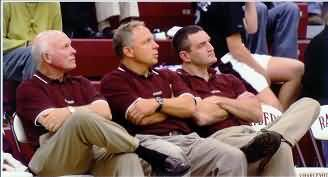 Charlevoix Rayder coaches... assistant coach Dr. James Gels, head coach Keith Haske, and assistant coach Brett Erskine