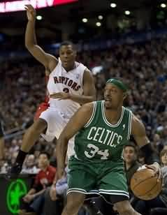 Paul Pierce makes a shot fake