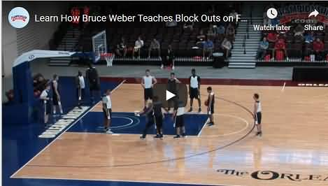 Bruce Weber Free-throw boxing out