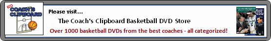 Basketball DVDs and videos at the Coach's Clipboard DVD Store!
