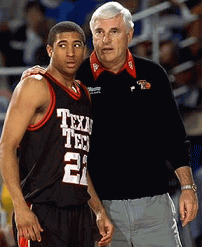 Coach Bob Knight making a substitution