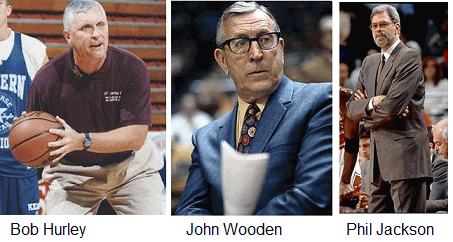Coaches Hurley, Wooden and Jackson