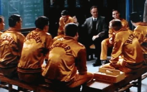 Hoosiers pregame team meeting