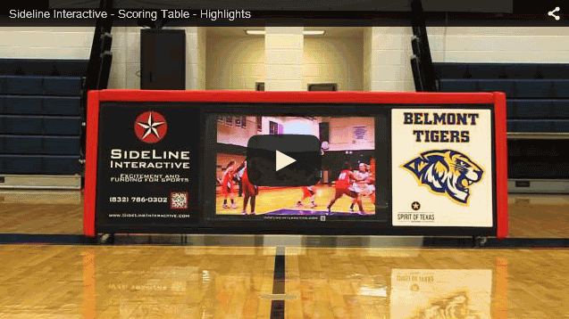 Sideline Interactive scoring table video