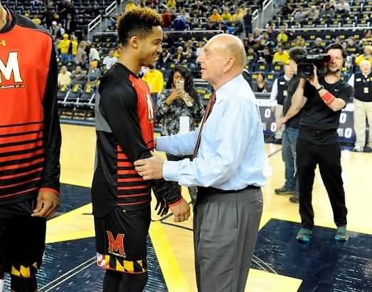 Dick Vitale and player