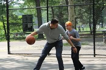 Fun outdoor basketball games