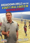Bill Self: Breakdown Drills for the 4 Out/1 In & 3 Out/2 In Motion Attack